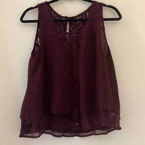 Garage lace chiffon top
